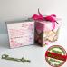 """Сувенир със Снимка """"Любовен Квадрат"""" + Подарък Кутийка и Два Ключодържателя"""